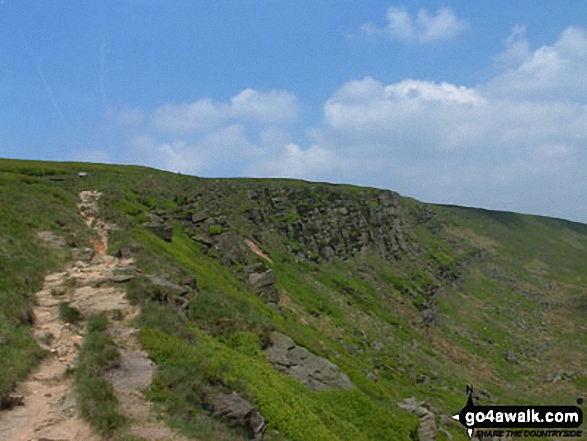 Approaching Black Chew Head (Laddow Rocks)