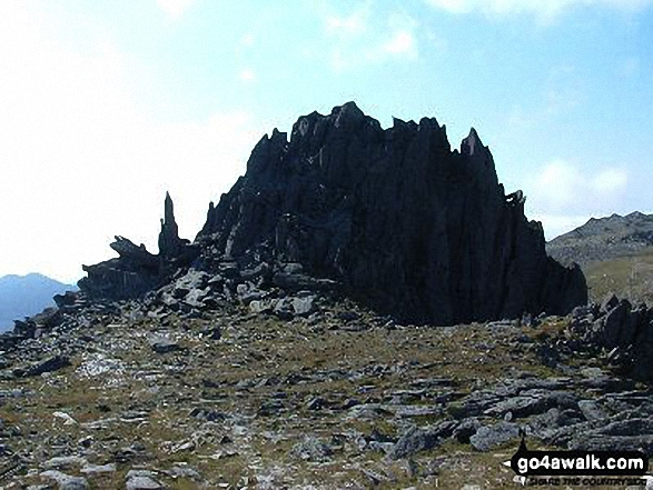Castell y Gwynt (Castle of the Wind) from Glyder Fach