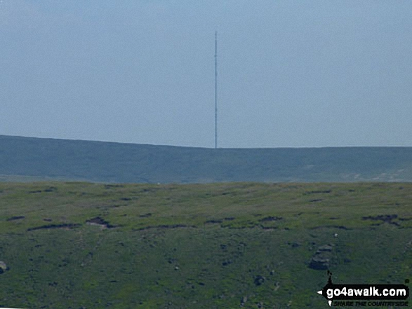 Bareholme Moss and Holme Moss TV Mast from near Black Chew Head (Laddow Rocks)