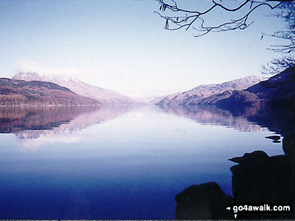 Loch Lomond at Rowcoish Bothy on the West Highland Way