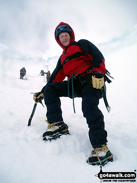 Me on Aonach Mor in Ben Nevis, The Aonachs and The Grey Corries Highland Scotland