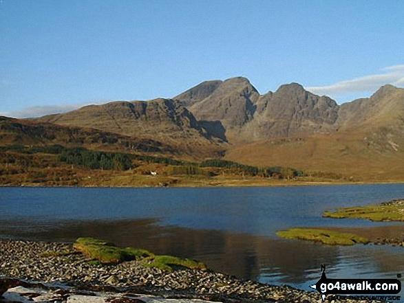 Walk h237 Boreraig, Suisnish and Camas Malag from Loch Cill Chriosd - Bla Bheinn (Blaven) beyond Loch Slapin