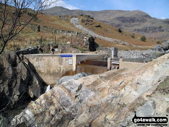 Hydro Dam in Coppermines Valley, near Miners Bridge, above Coniston