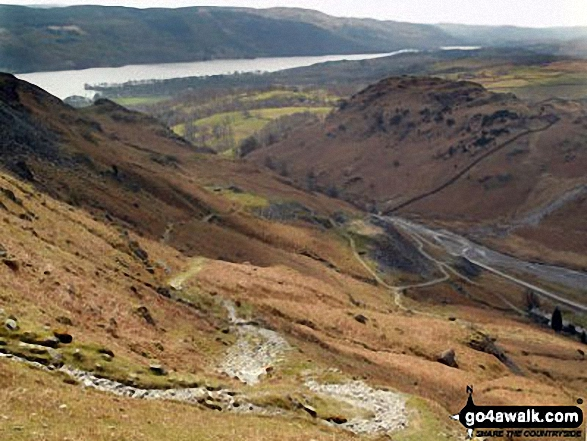 Coniston Water from Hole Rake below Wetherlam