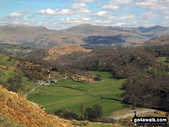 Looking down into Tilberthwaite from Hole Rake below Wetherlam