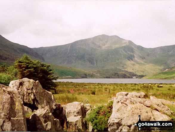 Llyn Ogwen and Y Garn (Glyders) from Glan Dena