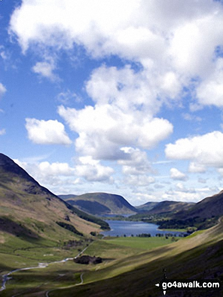 Buttermere from Warnscale Beck on the way to Hay Stacks. Walk route map c228 Hay Stacks from Buttermere photo