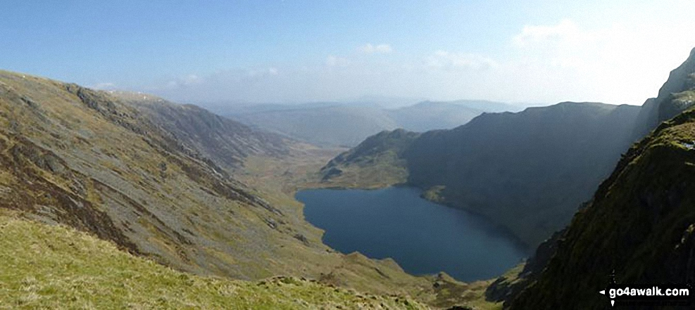 Llyn Cau from Craig Cau between Craig Cwm Amarch and Cadair Idris (Penygadair)