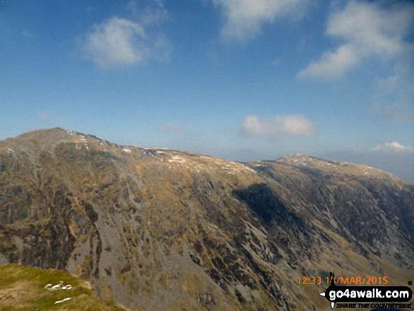 Cadair Idris (Penygadair) and Mynydd Moel (right) from the summit of Craig Cwm Amarch