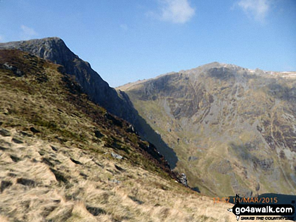 Craig Cwm Amarch and Cadair Idris (Penygadair)
