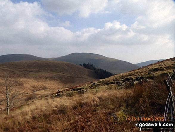 Mynydd Dol-ffanog from the Minffordd Path near Craig Lwyd