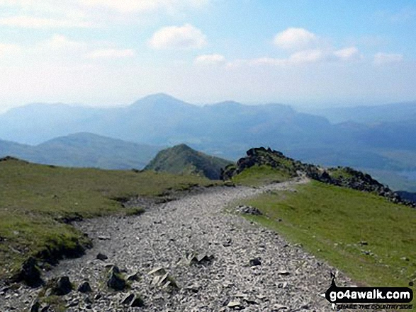 Homeward Bound from the summit of Snowdon (Yr Wyddfa) via the South Ridge. Walk route map gw140 Snowdon via The Rhyd Ddu Path photo