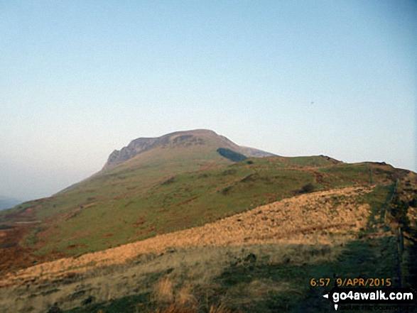 Approach to Foel Rudd (Mynydd Mawr) and Mynydd Mawr (Llyn Cwellyn) from the Beddgelert Forest path near Bwlch y Moch
