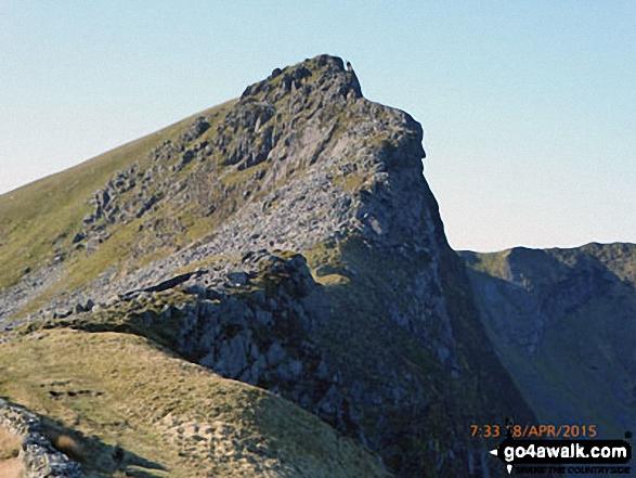 Approaching Mynydd Drws-y-coed on the Nantlle Ridge
