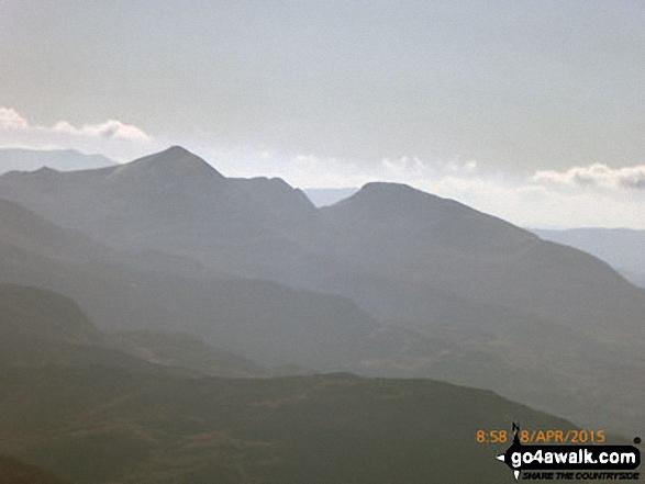 The Moelwyns - Cnicht (left) and Moelwyn Mawr (right) - from Mynydd Tal-y-mignedd