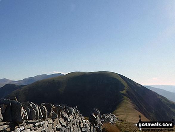 Bwlch Dros-bern and Craig Cwm Silyn from Mynydd Tal-y-mignedd