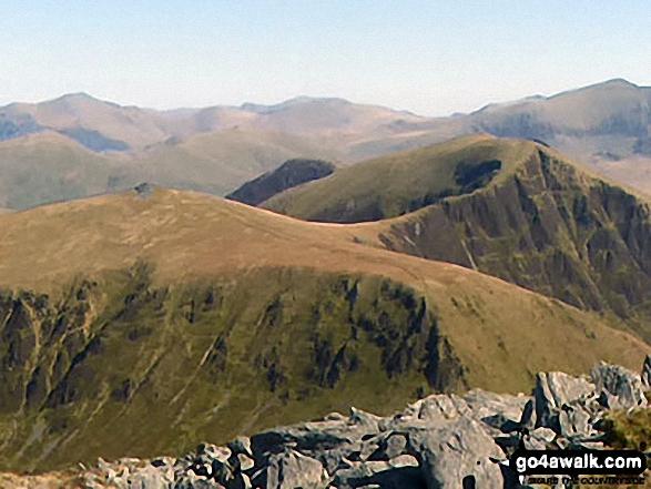 Mynydd Tal-y-mignedd and Mynydd Drws-y-coed from the summit of Craig Cwm Silyn