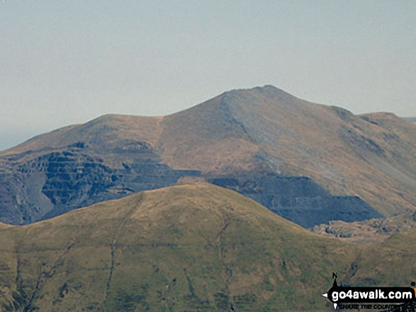 Moel Lefn (centre), Moel yr Ogof and Moel Hebog (right) from the summit of Craig Cwm Silyn