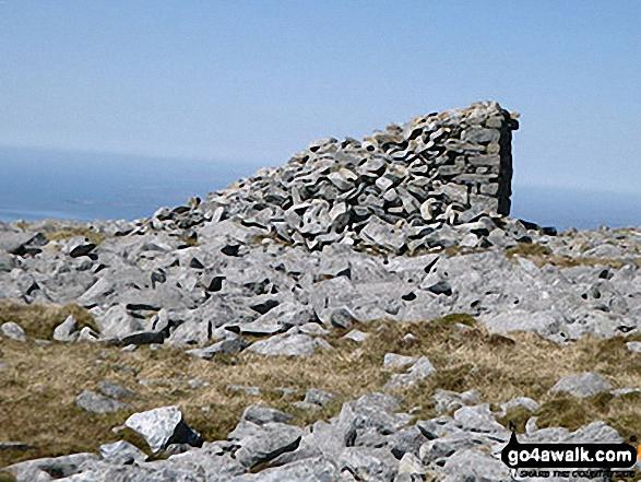 Cairn on the summit of Craig Cwm Silyn