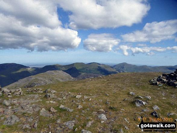 The Nantlle Ridge from Moel Hebog summit plateau