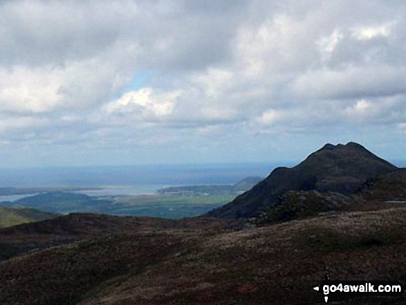 Porthmadog and Cnicht (North top) from Ysgafell Wen