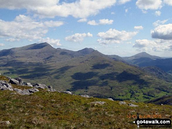 Snowdon (Yr Wyddfa) (left), Yr Aran and Carnedd Moel Siabod (right) from the summit of Moel Yr Ogof