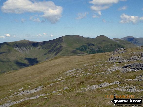 The Nantlle Ridge - Garnedd-goch, Craig Cwm Silyn, Mynydd Tal-y-mignedd, Bwlch Dros-bern, Trum y Ddysgl and Mynydd Drws-y-coed - from Moel Lefn