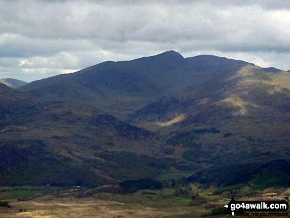 The Snowdon Range - Snowdon (Yr Wyddfa), Garnedd Ugain (Crib y Ddysgl) and Y Lliwedd - from Cnicht