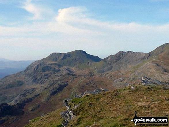 Moelwyn Bach, Bwlch Stwlan, Craigysgafn and Moelwyn Mawr from near Rhosydd Quarry