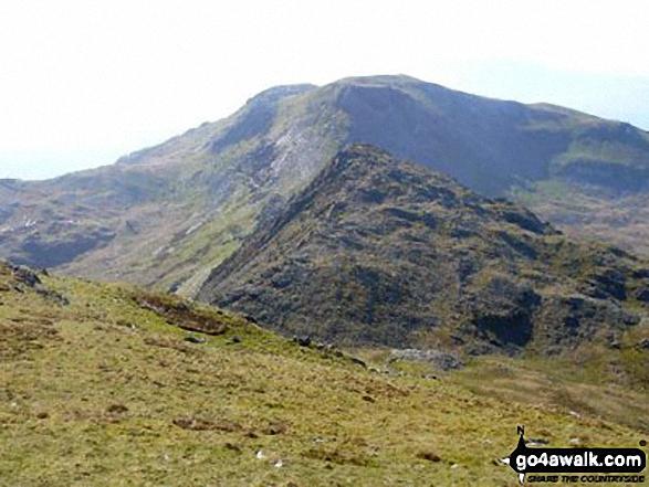 Moelwyn Bach across Craigysgafn and Bwlch Stwlan from Moelwyn Mawr