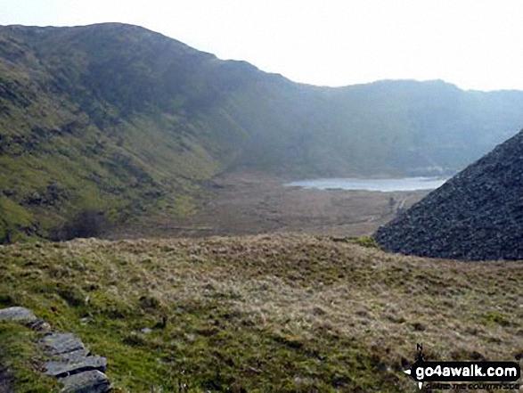 Looking back to Llyn Cwmorthin from Bwlch Cwmorthin
