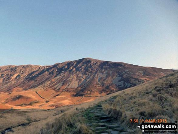 Mynydd Moel from the Mynydd Moel path above Nant Cadair