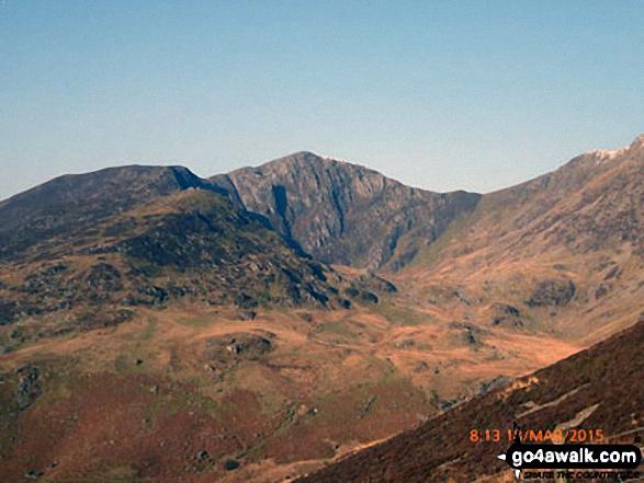 Craig Cwm Amarch from the Mynydd Moel path above Nant Cadair