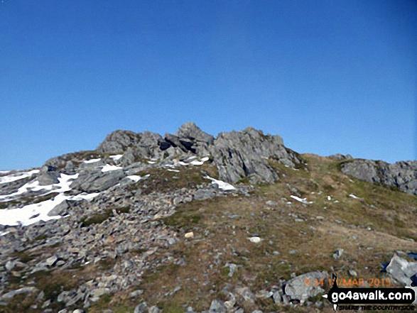 Approaching a false summit on Mynydd Moel