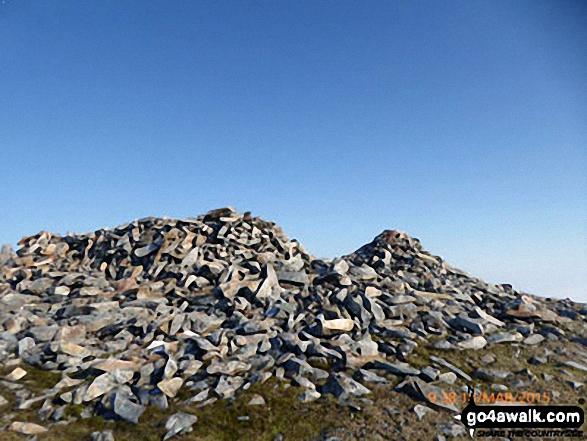 Mynydd Moel summit cairn. Walk route map gw137 Cadair Idris (Penygadair), Mynydd Moel, Craig Cwm Amarch and Cyfrwy via The Fox's Path photo