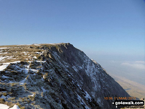 Approaching the summit of Cadair Idris (Penygadair)