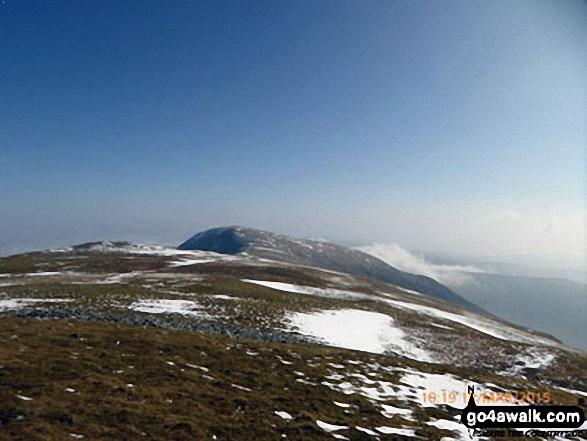 Looking back to Mynydd Moel from Cadair Idris (Penygadair)