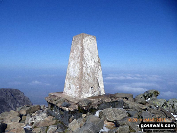 Cadair Idris (Penygadair) summit trig point
