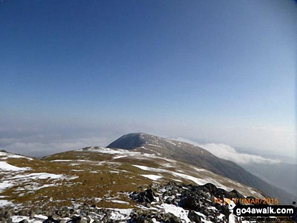 Mynydd Moel from Cadair Idris (Penygadair) summit trig point