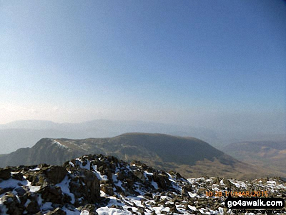 Craig Cwm Amarch and Mynydd Pencoed from Cadair Idris (Penygadair) summit trig point