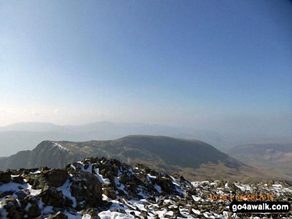 Craig Cwm Amarch and Mynydd Pencoed from Cadair Idris (Penygadair) summit trig point