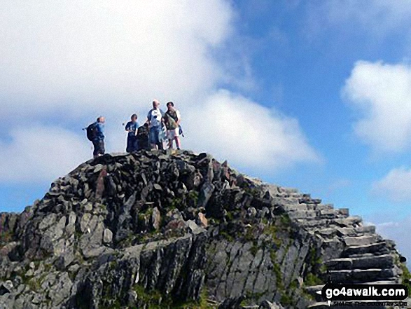 The summit of Snowdon (Yr Wyddfa)