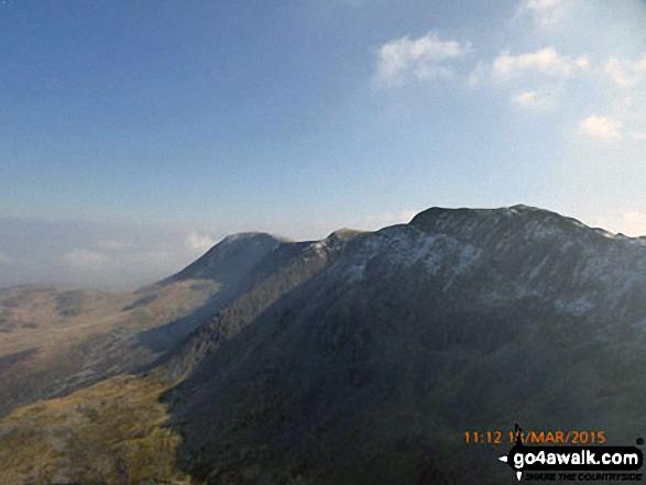 Mynydd Moel and Cadair Idris (Penygadair) from Cyfrwy