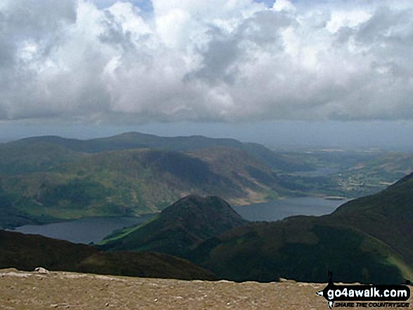Walk c313 The Newlands Fells from Hawes End - Rannerdale Knotts, Crummock Water, Mellbreak and Loweswater from Robinson