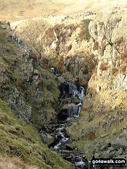 Red Gill Beck ravine SE of Walna Scar