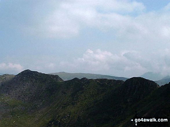 Striding Edge from the top of Swirral Edge on Helvellyn