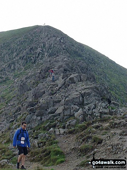 Looking up Swirral Edge