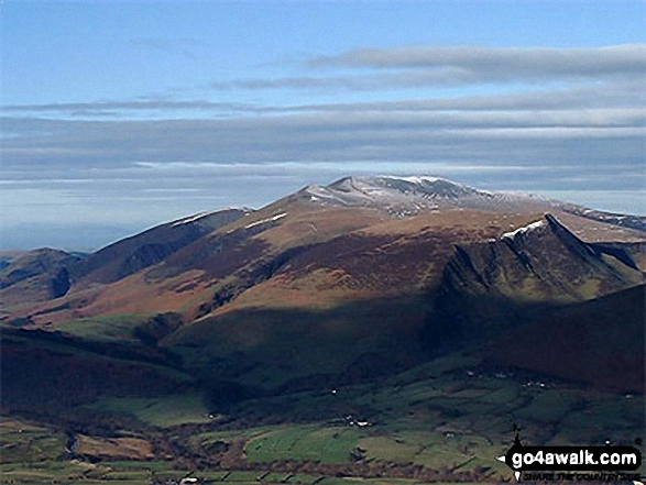 Dodd (Skiddaw), Carl Side, Skiddaw and Lonscale Fell from Clough Head