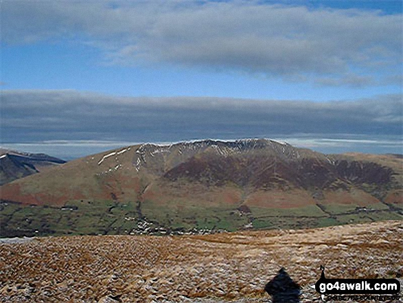 Walk c433 The St John's in the Vale Skyline from Legburthwaite - Blencathra (or Saddleback) from Clough Head