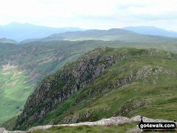 Walk Eagle Crag walking UK Mountains in The Central Fells The Lake District National Park Cumbria    England